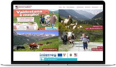 Immagine homepage del sito AREV Carne Valdostana